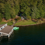 point windy aerial lake martin lakeside view